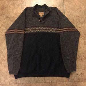 Vintage 1/4 Zip Woolrich Wool Sweater