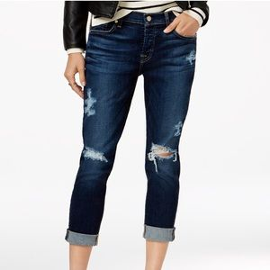 7 For All Mankind Josephina Ripped Santiago Jeans