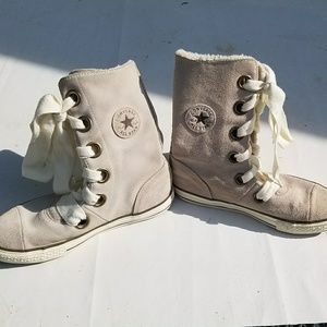 Converse   Shoes - Womens Grey Converse All Star high top sneakers