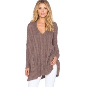 NWT free people cable v-neck sweater