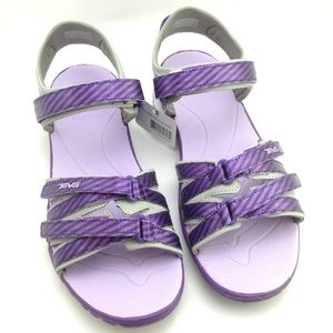 Teva Shoes - Teva purple metallic strip sandals