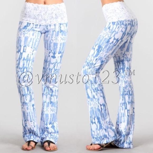 ValMarie Boutique Pants - ‼️SMALL LAST PAIR - LACE WAIST BOOTCUT PANTS