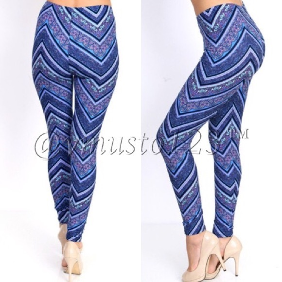 ValMarie Boutique Pants - MEGA SOFT KNIT KALEIDOSCOPE LEGGINGS