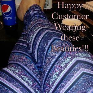 ValMarie Boutique Pants - MEGA SOFT KNIT KALEIDOSCOPE LEGGINGS