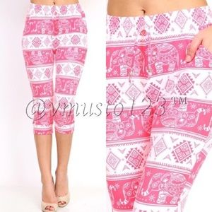 MEGA SOFT ELEPHANT DRAWSTRING CROPPED LEGGINGS