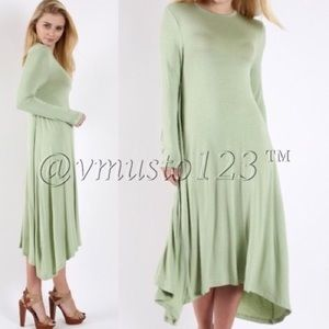 MOSS MIDI LONG SLEEVE DRESS