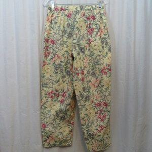 Coldwater Creek Pants - Coldwater Creek Multicolor Floral Pants 14P