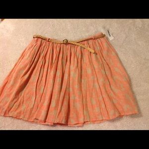 Old Navy skirt with belt 6 NWT