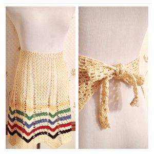 Vintage Sweet Knit Apron!  Gorgeous & Handmade (?)