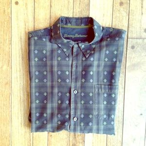 Tommy Bahama Other - Dark gray Tommy Bahama silk jacquard button down