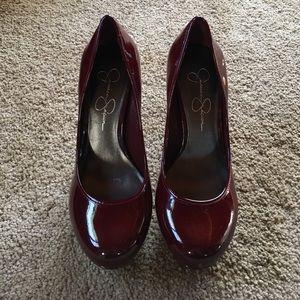 Maroon Jessica Simpson heels