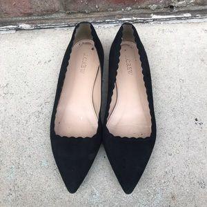 J. Crew Shoes - J. Crew Harper Scalloped Suede Flats