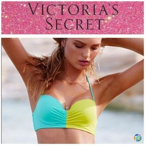 VS halter color block underwire swim top NWT 32D