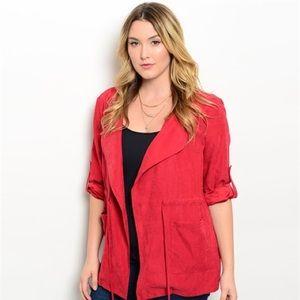 Jackets & Blazers - ❤️Red Jacket Plus Size❤️