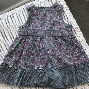 Children's Place Other - Gray corduroy flowered dress