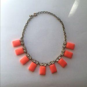 J. Crew coral statement necklace