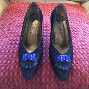 Yves Saint Laurent Shoes - Yves Saint Laurent designer satin heels