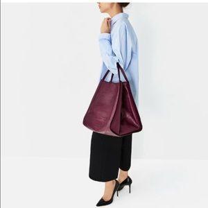ZARA  leather bucket bag!
