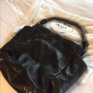 Authentic Prada black hobo handbag