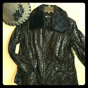 Black + Faux Fur Jacket