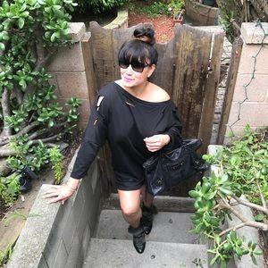 Mth Degree Dresses & Skirts - Distressed Black Sweater Dress