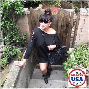 Mth Degree Dresses & Skirts - ☀️WKND SALE☀️Distressed Black Sweater Dress