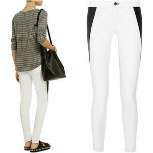 rag & bone Denim - Rag and bone leather panel jeans