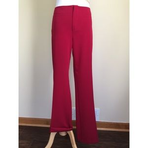 A. Byer Pants - A. Byer red textured stripe trousers sz 9