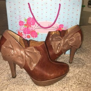 Poetic License encouraged shoe boot with bow SALE