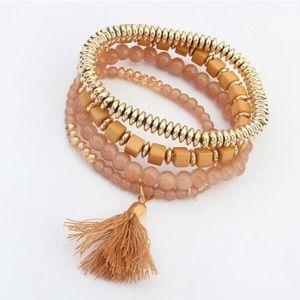 Gold & Taupe Tones Bracelet Set! 💛