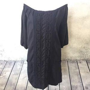 Anthropologie Dresses & Skirts - Anthropologie Crochet Lace Off Shoulder Dress