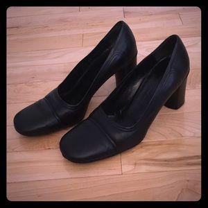 Jil Sander Shoes - Jil Sander Black Leather Heels Size 8