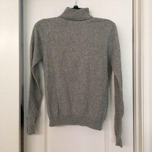 Grey S turtleneck sweater
