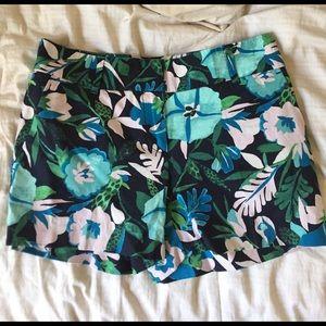 tropic floral printed shorts