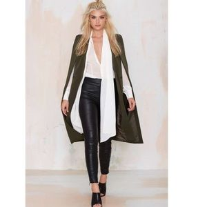 Lavish Alice Jackets & Blazers - Lavish Alice on The Fly Olive Long Cape