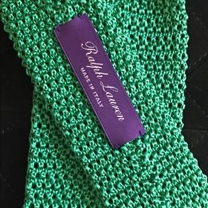Ralph Lauren Purple Label Other - NWT Ralph Lauren Purple Label Kelly Green Knit Tie