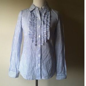 Tops - 🌟🌟Striped ruffle blouse