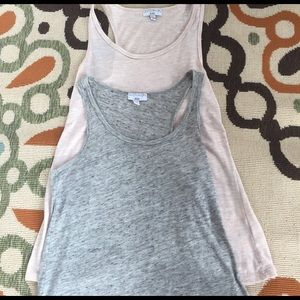 Cotton On Tops - Cotton On Pink and gray heathered tanks