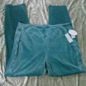NEW te Verde Velour Pants Exercise or Lounge 1X