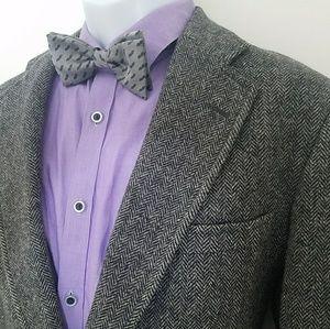 Jos A. Bank Tweed Wool Gray 2 button Blazer 42 R