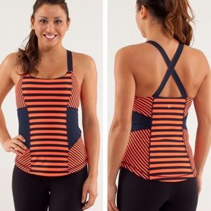 Lululemon Work It Out Tank SeaStripe Flare Inkwell