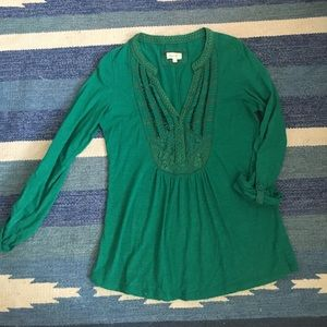 Emerald Green Anthro top