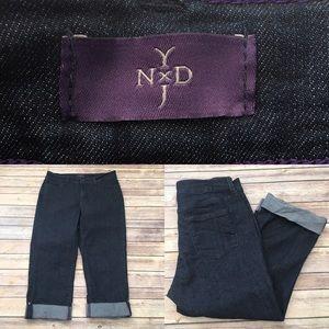 NYDJ Denim - 🍂Sz 6 NYDJ Dark Wash Fold Up Crop Denim Capri's
