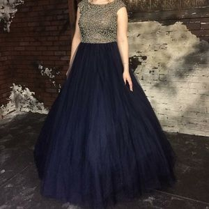 Terani Couture Dresses & Skirts - Glamour by Terani Couture size 12 navy prom dress