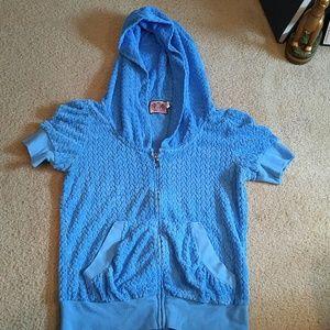 Juicy Couture Blue Short Sleeve Hoodie S