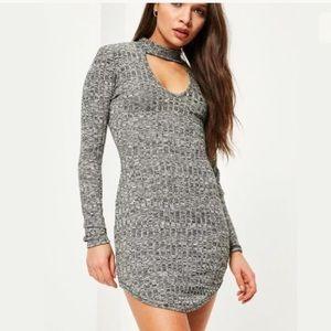 New MissGuided Gray CutOut Mini Dress XS S
