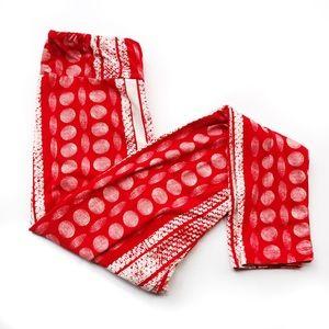LuLaRoe Pants - Lularoe red white dot print OS leggings