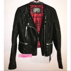 Macy's Jackets & Blazers - 🆕Black Vegan Leather Moto Biker Jacket Motorcycle