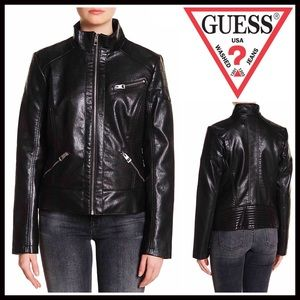 Guess Jackets & Blazers - ❗️1-HOUR SALE❗️GUESS VEGAN LEATHER JACKET