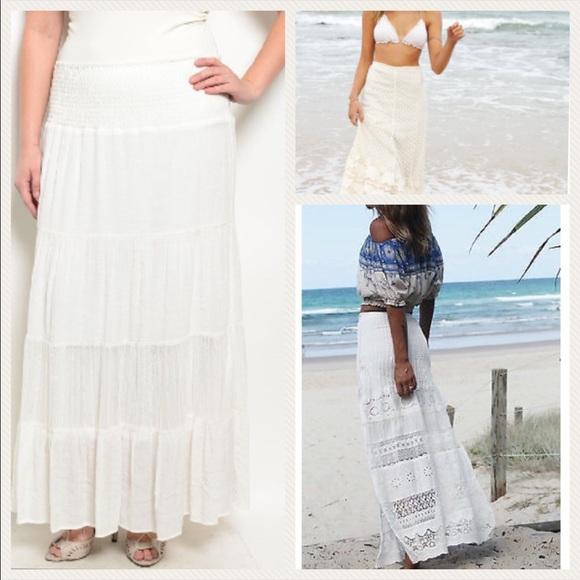 a8761040ad1 ROMANTIC lace boho maxi skirt Plus sizes